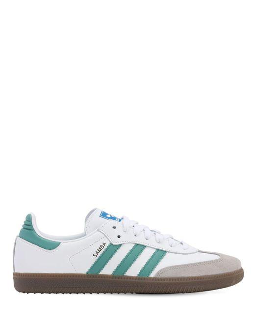 Adidas Originals Multicolor Samba Leather Sneakers for men