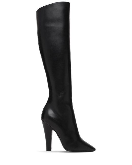 Кожаные Сапоги 110мм Saint Laurent, цвет: Black