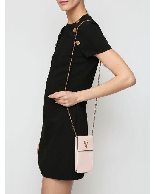 Versace Virtus レザースマートフォンケース Pink