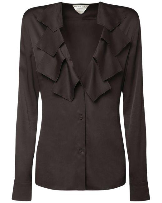 Рубашка С V-образным Вырезом Bottega Veneta, цвет: Brown