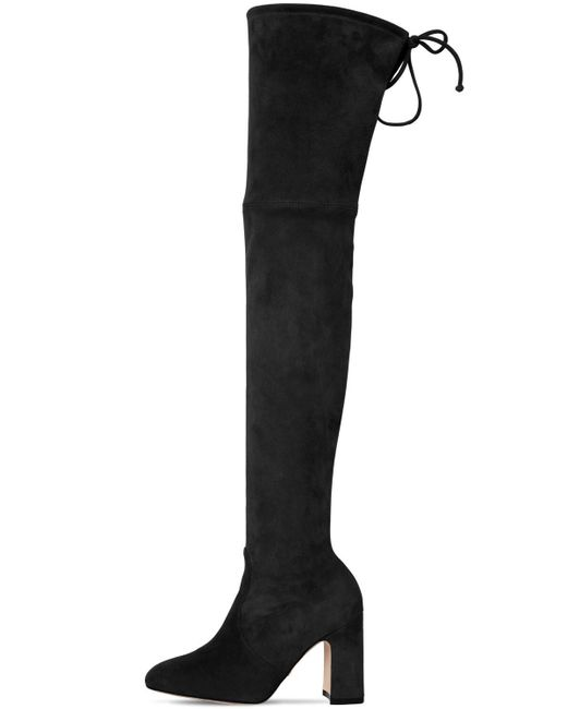 "Botas Mosqueteras ""Kirstie"" De Ante Stretch 90Mm Stuart Weitzman de color Black"
