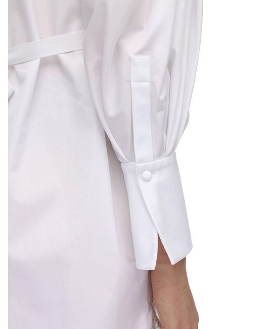Alexander McQueen コットンポプリン&レースシャツ White