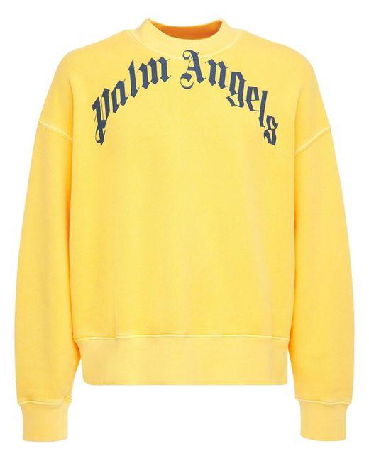 Толстовка С Логотипом Palm Angels для него, цвет: Yellow