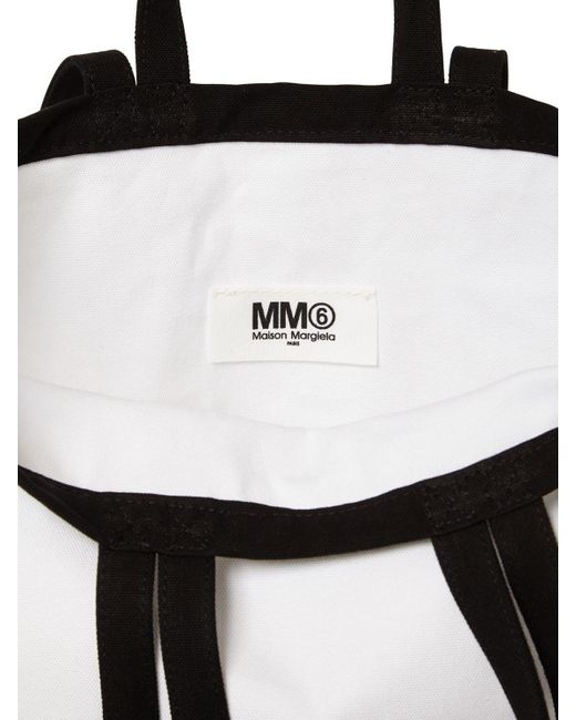 MM6 by Maison Martin Margiela Berling エコキャンバストートバッグ White