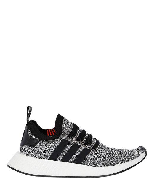 fc5f41d66 Adidas Originals - Black Nmd R2 Primeknit Sneakers for Men - Lyst ...