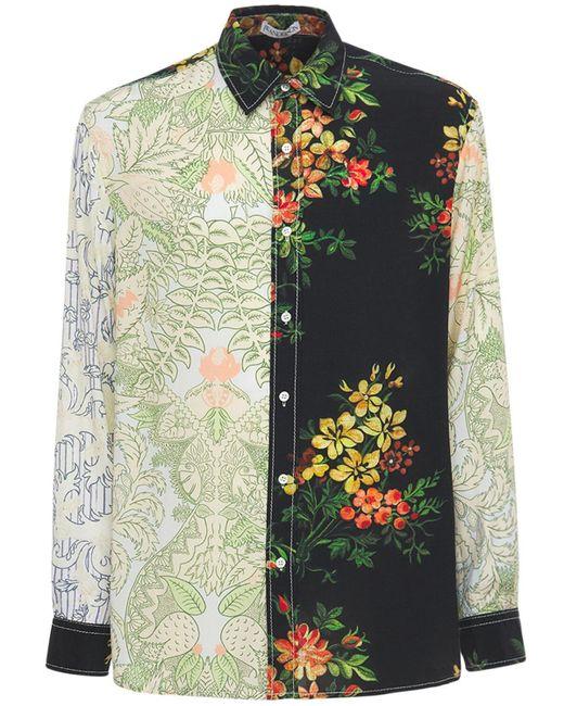 メンズ J.W. Anderson リラックスビスコースシャツ Multicolor