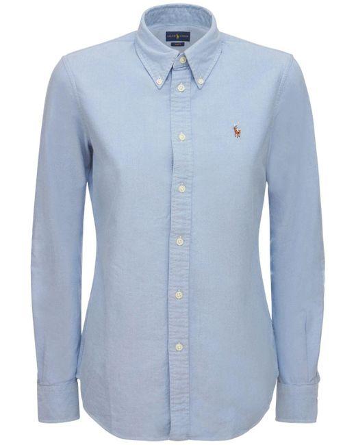 """Polo Ralph Lauren Blue Hemd Aus Baumwolle """"kendal"""""""