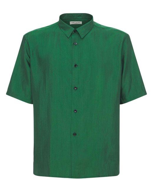 Шёлковая Рубашка Saint Laurent для него, цвет: Green