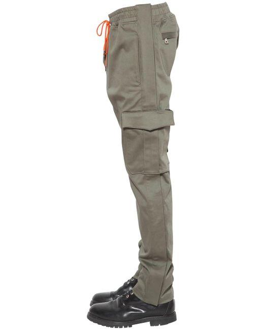メンズ Just Don Tearaway コットンブレンドカーゴパンツ Gray