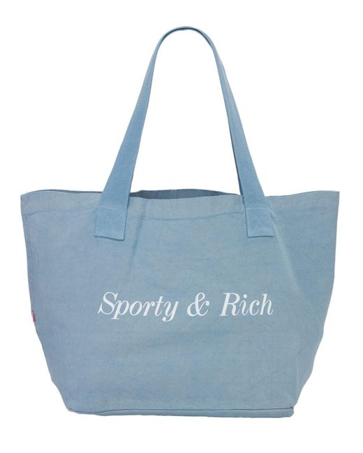 Sporty & Rich Classic トートバッグ Blue