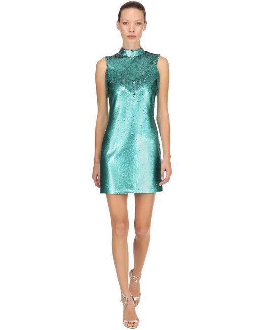 Vivetta スパンコールミニドレス Blue