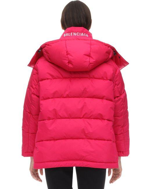 Balenciaga ナイロン パファージャケット Pink