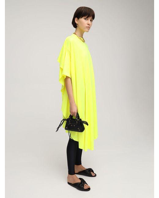 Balenciaga コットンブレンドジャージードレス Yellow