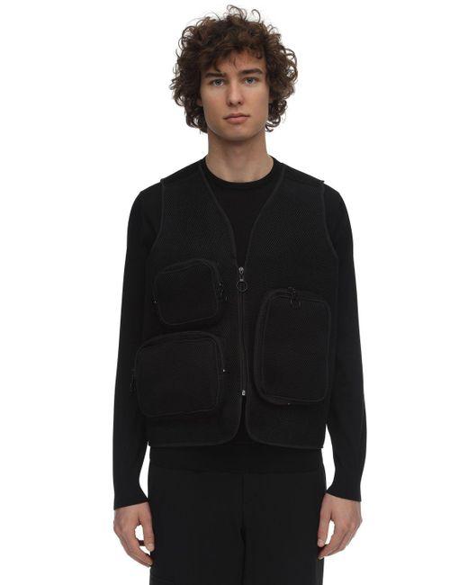 Gilet In Rete Con Tasche Cargo di Jaded London in Black da Uomo