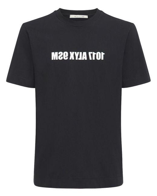 メンズ 1017 ALYX 9SM Mirror コットンジャージーtシャツ Black