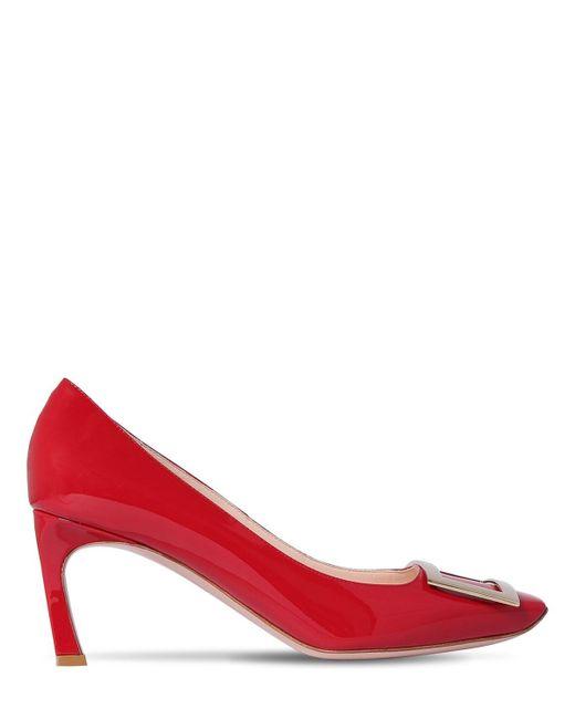 "Туфли ""trompette"" Из Лакированной Кожи 70mm Roger Vivier, цвет: Red"