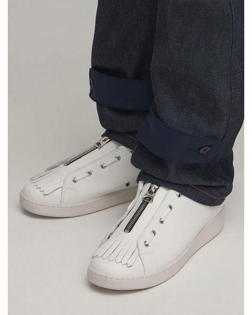 メンズ A.P.C. Sacai Minimal Julietta レザースニーカー White