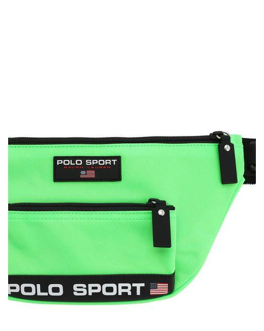 メンズ Polo Ralph Lauren ナイロンベルトバッグ Green