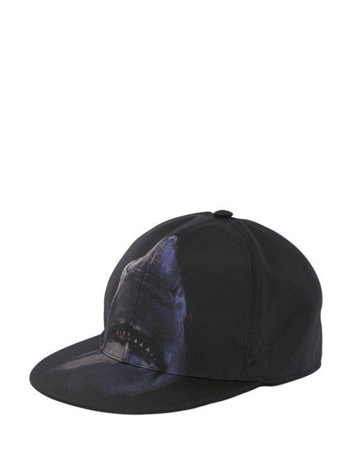 Givenchy - Black Shark Nylon Cordura Baseball Hat for Men - Lyst