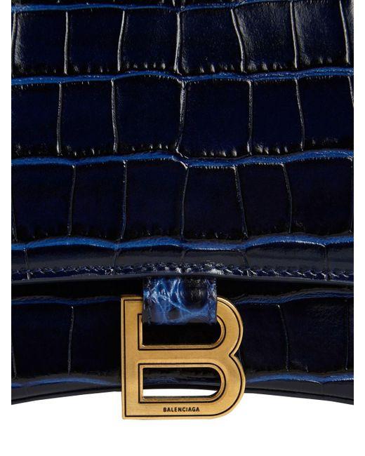 Balenciaga Hourglass レザーバッグ Blue