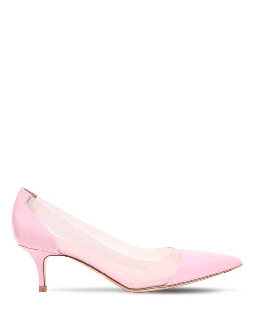 Туфли Из Плексиглас И Лакированной Кожи 55mm Gianvito Rossi, цвет: Pink