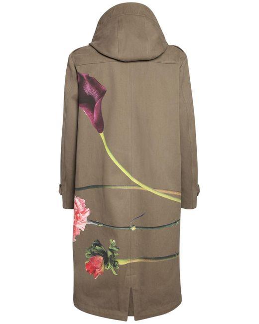 Пальто Из Хлопка С Цветочным Принтом Valentino для него, цвет: Multicolor