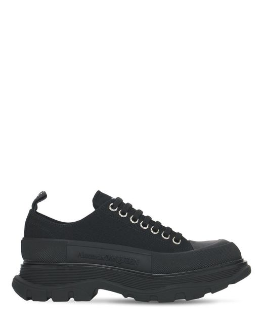Кроссовки Из Хлопкового Канваса 45мм Alexander McQueen, цвет: Black