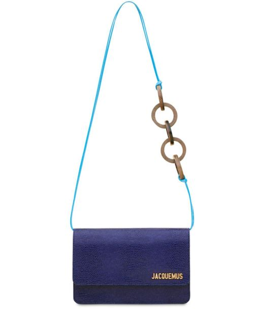 Jacquemus Le Riviera リザードエンボスレザーバッグ Blue
