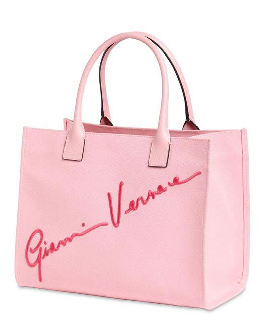 Versace キャンバストートバッグ Pink