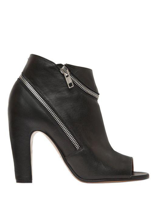 Maison Margiela - Black Open Toe Ankle Boots - Lyst