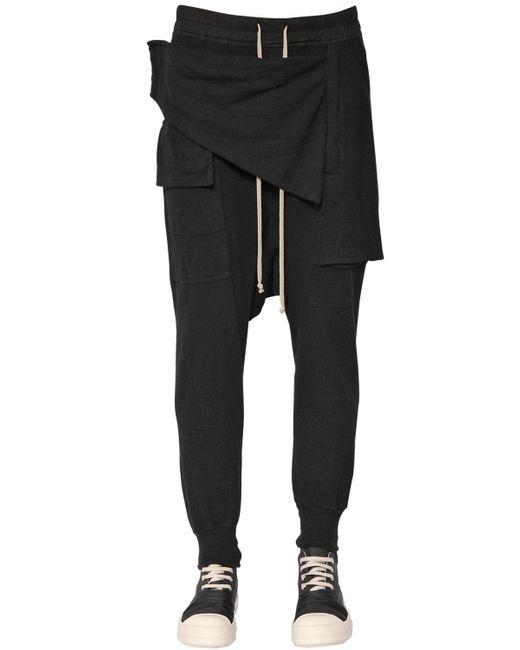 Rick Owens | Black Drkshdw Paneled Cotton Gauze Pants for Men | Lyst