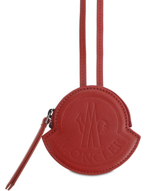 Кожаный Клатч Moncler для него, цвет: Red