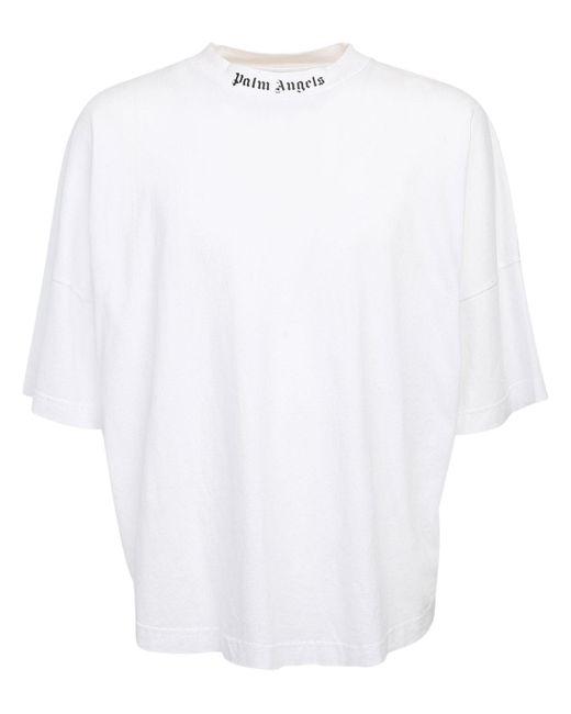 メンズ Palm Angels オーバーサイズコットンジャージーtシャツ Black