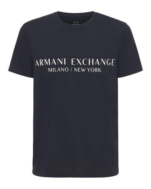 メンズ Armani Exchange コットンtシャツ Black