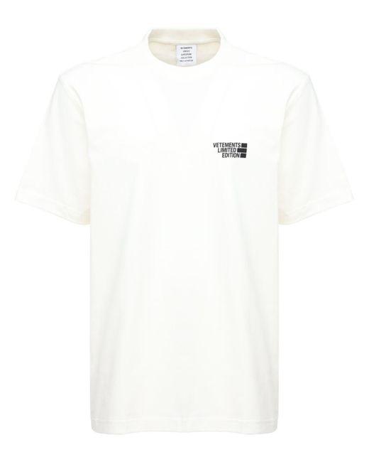 メンズ Vetements Limited Edition コットンtシャツ White