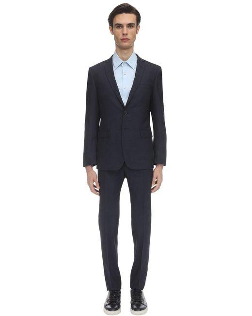 メンズ Tonello ウール&シルクブレンドスーツ Blue
