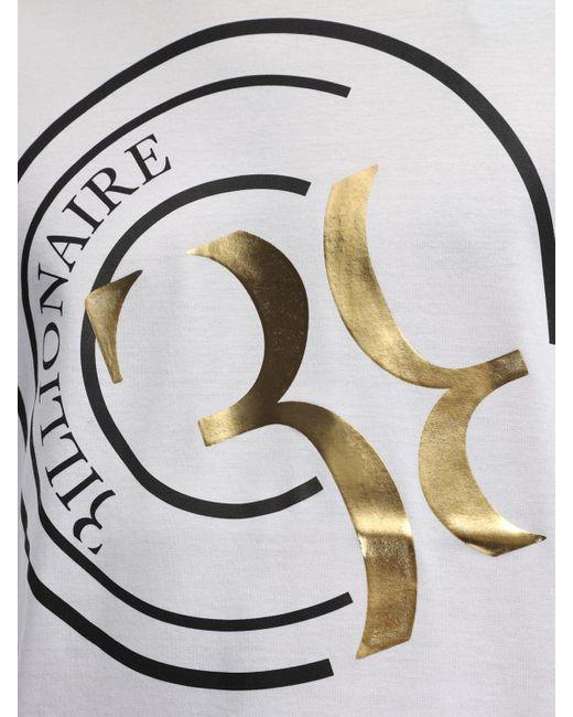 メンズ Billionaire コットンジャージーtシャツ White