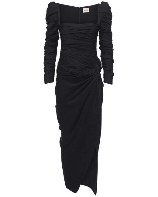Платье Из Атласного Крепа Khaite, цвет: Black