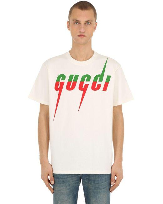 メンズ Gucci オーバーサイズ コットンジャージーtシャツ White