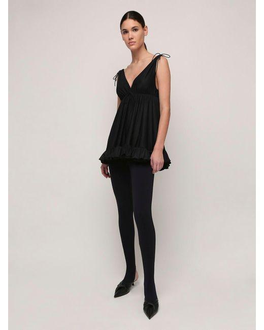 Balenciaga フリルジャージーミニドレス Black
