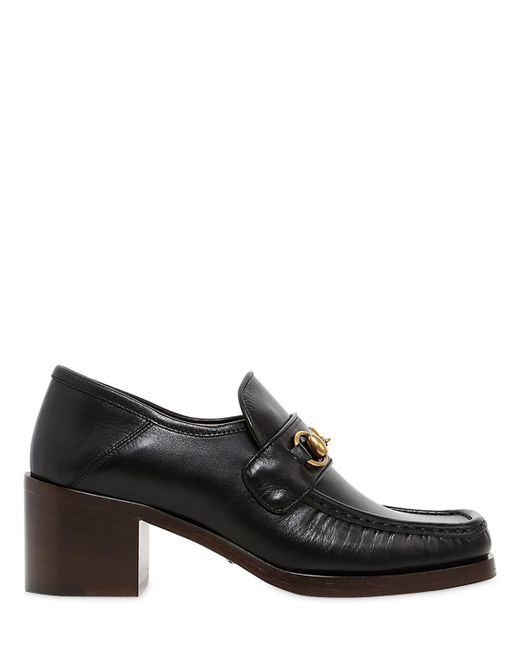 Gucci | Black 55mm Vegas Leather Loafers | Lyst
