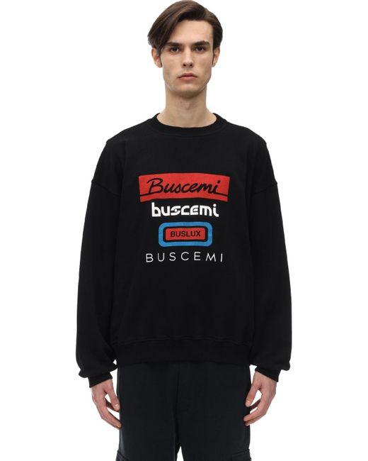メンズ Buscemi オーバーサイズコットンスウェットシャツ Black