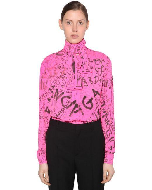 Balenciaga テクノクレープブラウス Pink