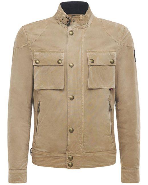 Куртка Из Хлопка Racemaster Belstaff для него, цвет: Natural