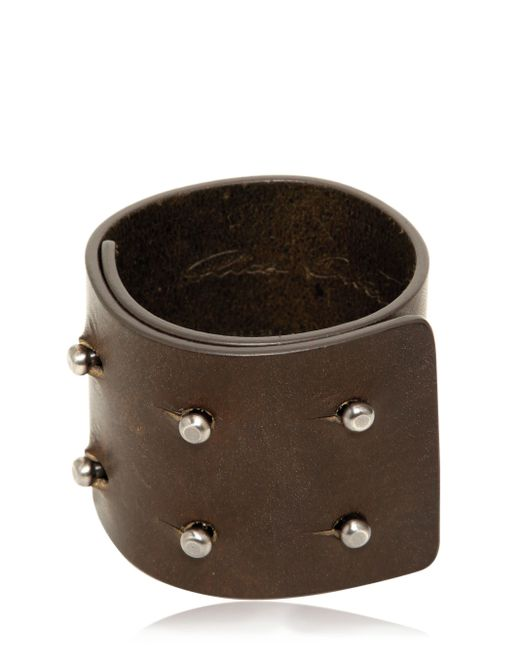 Rick Owens | Brown Leather Bracelet for Men | Lyst