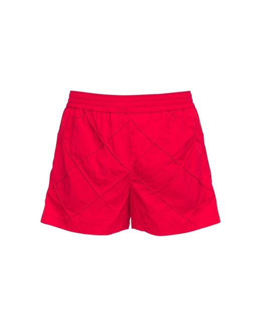 メンズ Bottega Veneta ナイロン水着 Red
