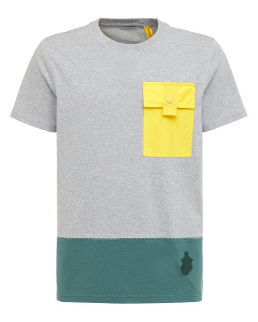 Футболка Из Джерси Moncler Genius для него, цвет: Gray