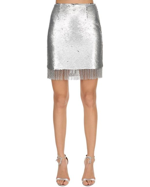 Vivetta スパンコール ミニスカート Metallic