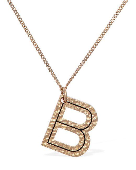 "Burberry チャームネックレス""b"" Metallic"
