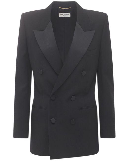 Пиджак Из Шерсти Saint Laurent, цвет: Black